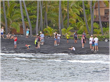Big Island: Punalu'u Black Sand Beach